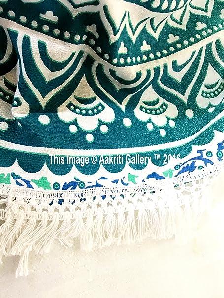 Aakriti Gallery Mandala indien rond Jeté de lit Tapisserie de style Hippy  Boho Gitan Coton Nappe Serviette de plage a6ca699122b