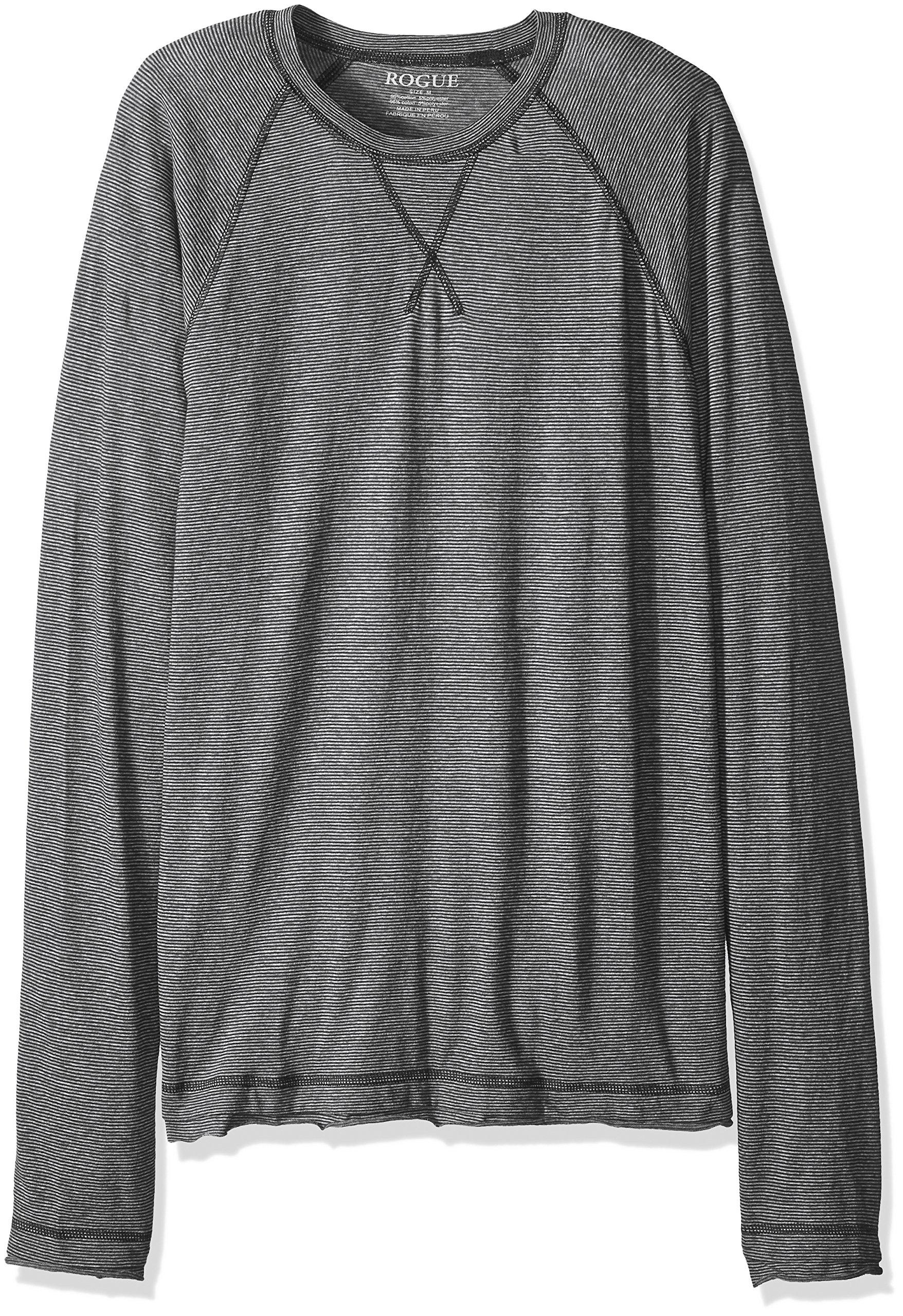 ROGUE Men's Long Sleeve Striped T-Shirt, Navy/Charcoal, Medium by Rogue (Image #1)