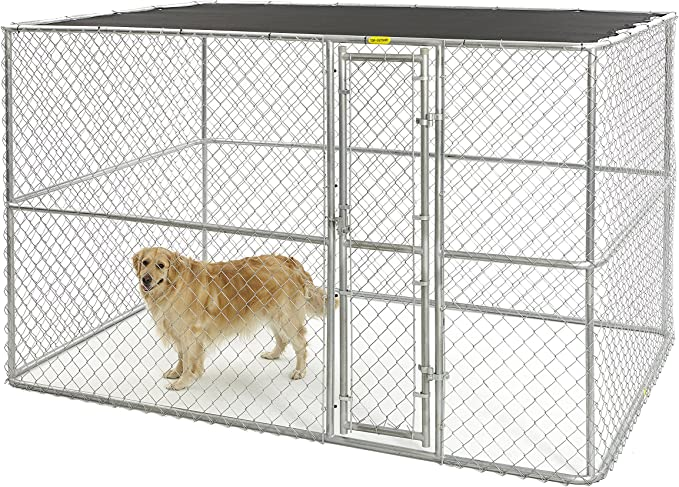 Midwest Homes For Pets K91066 Chain Link Portable Kennel With Sunscreen 10 By 6 By 6 Inch Dog Kennel Outdoor Pet Supplies Amazon Com