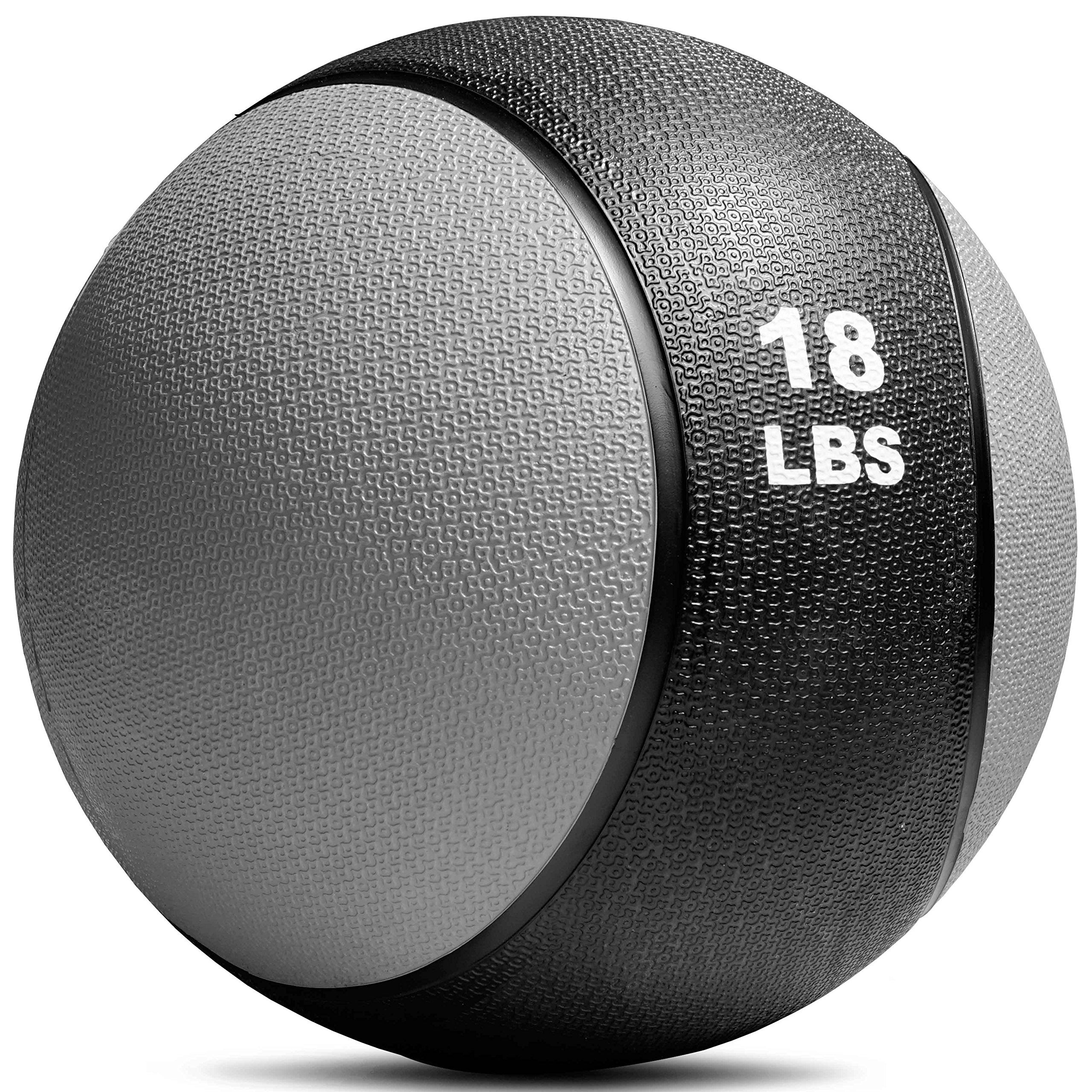 TITAN FITNESS Weighted Medicine Ball 18lb Rubber Muscle Driver Sport Therapy WOD