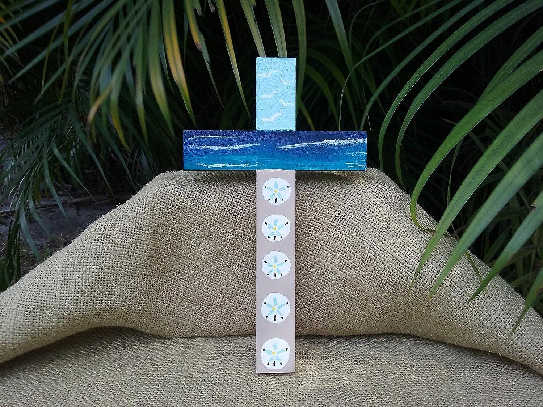 Amazon Sand Dollar Cross Beach Cross Handmade