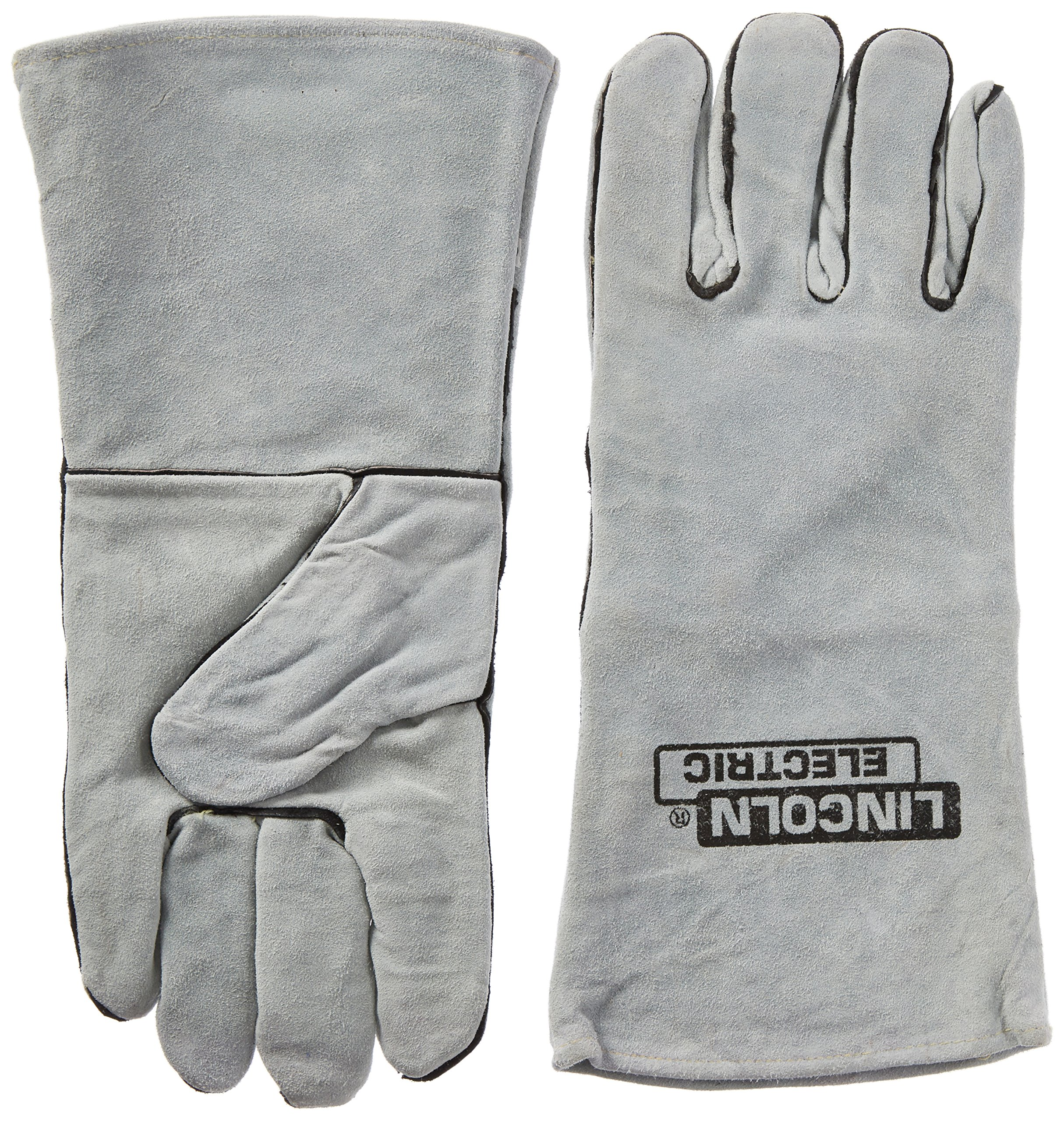 Lincoln Electric KH641 Leather Welding Gloves, One Size, Grey