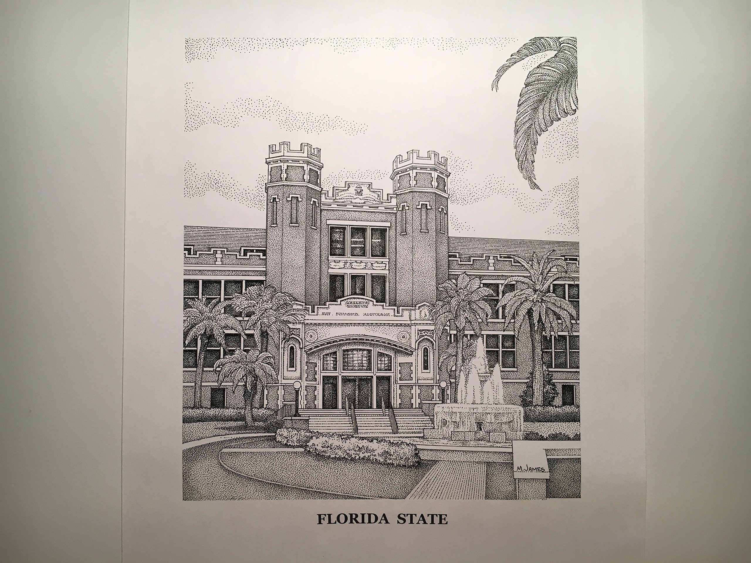 Florida State University Westcott Building - 11''x14'' pen and ink print