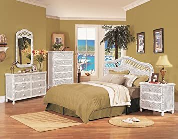 Florentine 6 Drawer Wicker Dresser