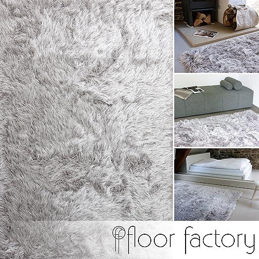 12 opinioni per Tappeto Shaggy pelo lungo Prestige grigio argento 120x170 cm- tappeto morbido