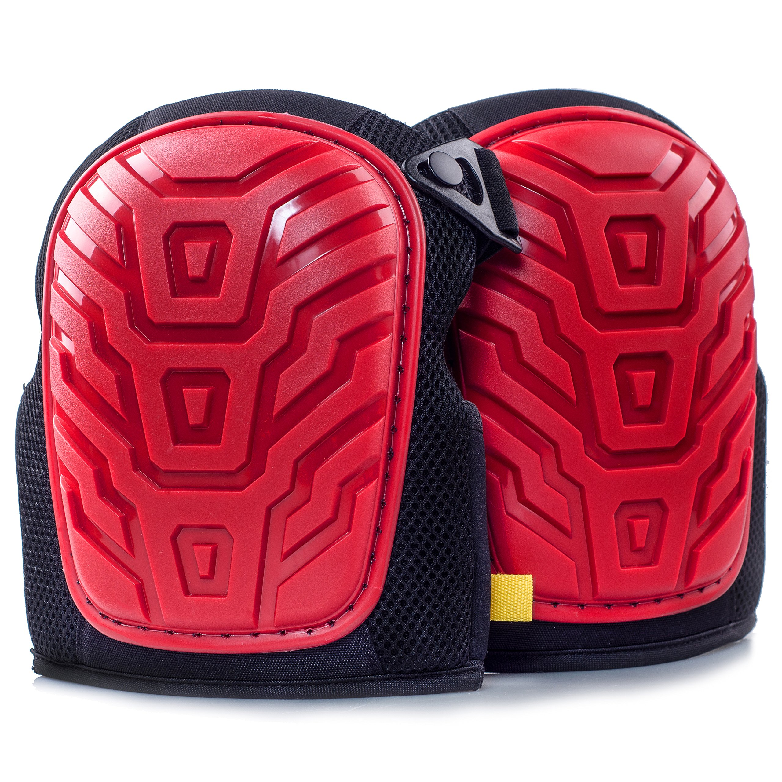 Professional Knee Pads - Easy to WEAR Heavy Duty Memory Foam Padding, Comfortable Gel Cushion, Strong Straps FITS All, Adjustable Easy-Fix Clips - Best for Gardening, Construction, Flooring