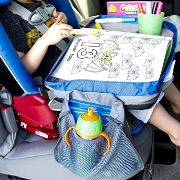 kids travel tray car lap desk portable activity table for lunch and snacks durable