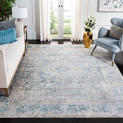 Safavieh Dream Collection DRM410K Grey and Blue 9 x 12 Area Rug