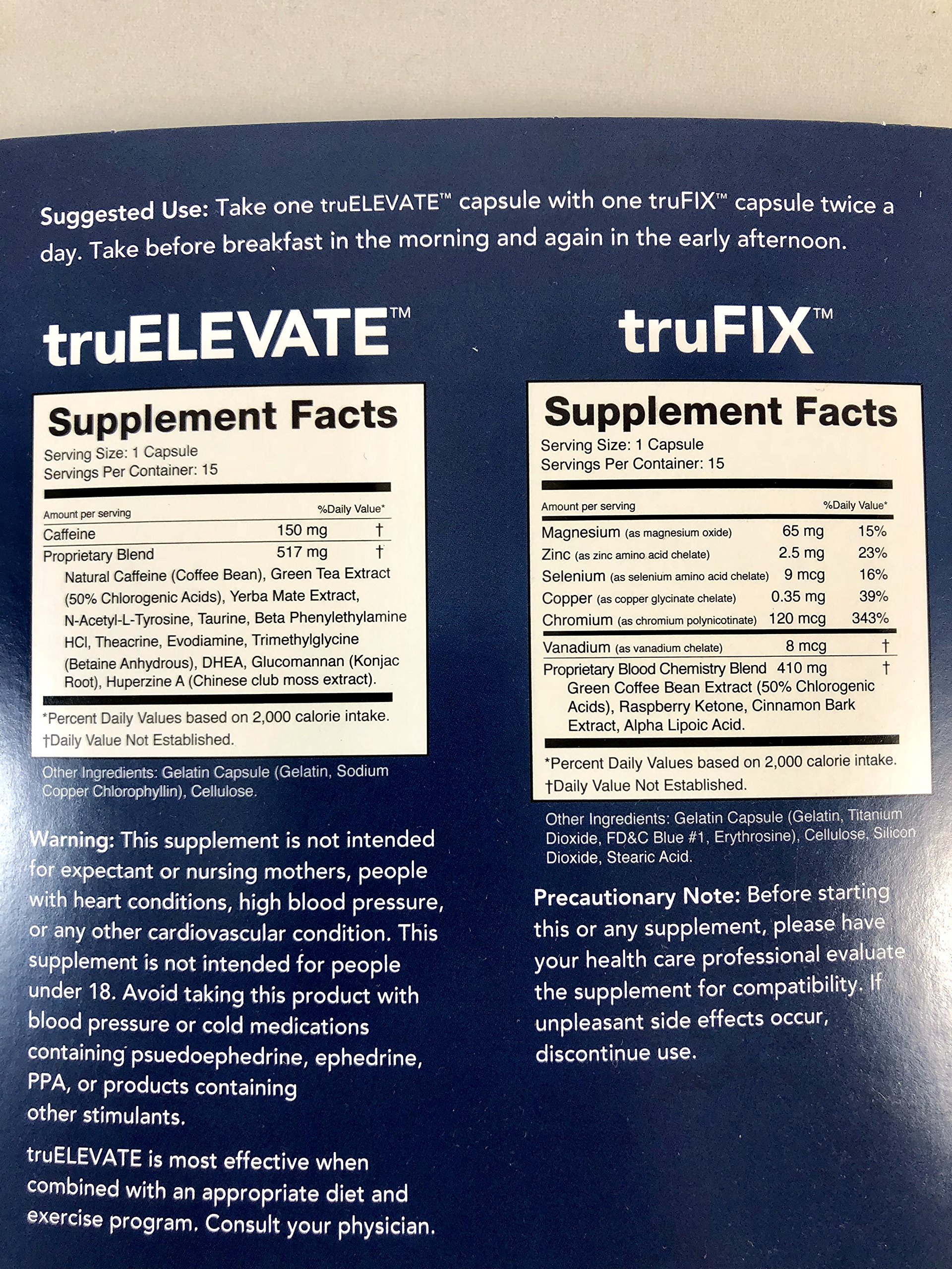 Truvision Weight Loss Trufix/Truelevate 30 Day Supply (120 Pills) #1 Weight Management Supplement Products Includes a 30 Days Physical Food Journal to Help Organize Your Diet by TruVision (Image #3)