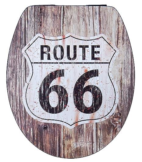 Cornat KSDSC701 Métal Déco Abattant WC Route 66: Amazon.fr: Bricolage
