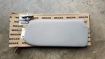 Amazon.com  2010-2012 Nissan Sentra Left Driver Side Grey Sun Visor ... 34f5c202af7
