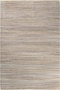 Rizzy Home Wynwood Collection Cotton/Jute Area Rug, 7' x 10', Gray/Natural