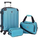 Travelers Club Sky+ Luggage Set, Teal, 3 Piece