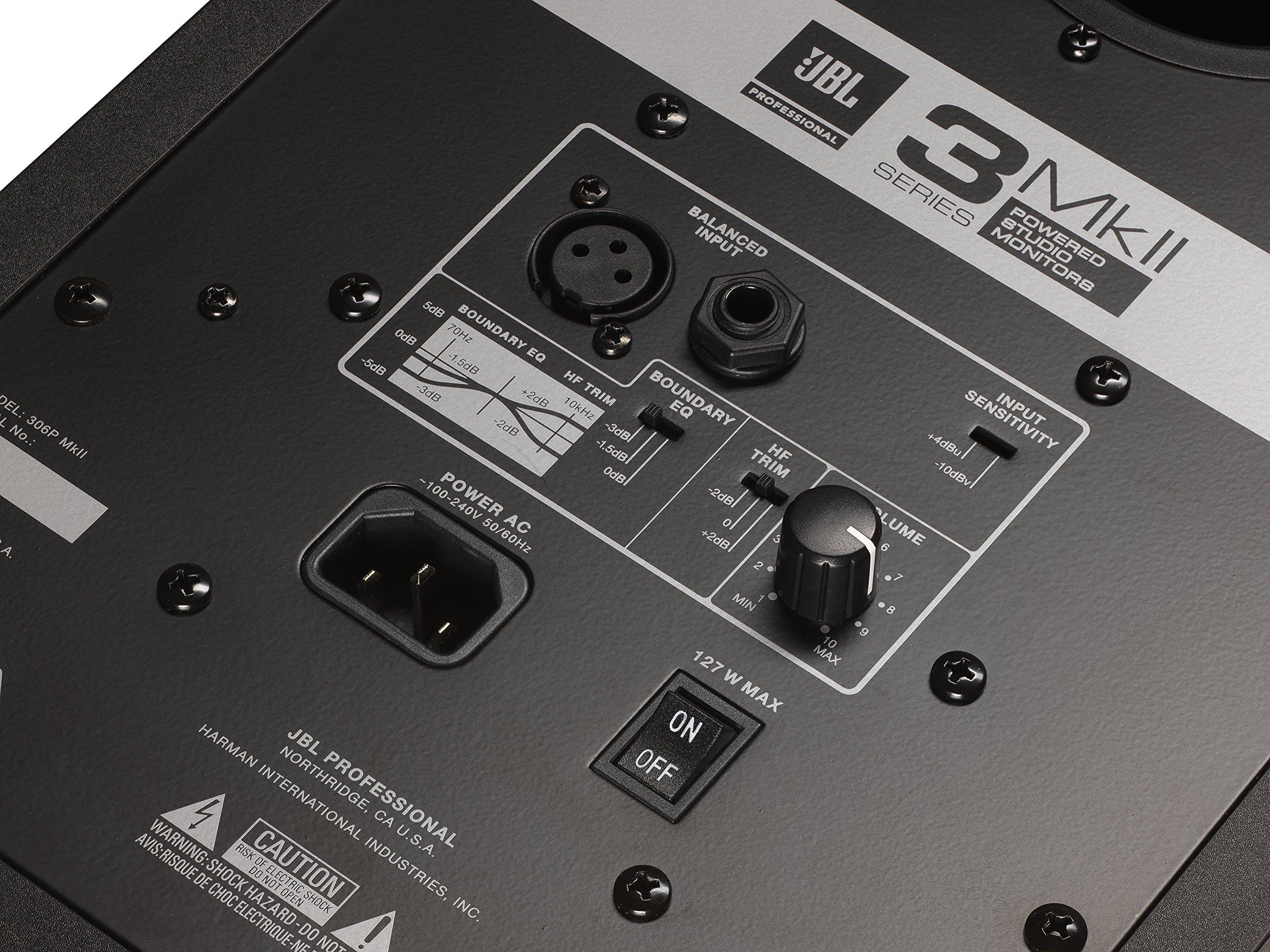 JBL 306P MkII 6'' 2-Way Powered Studio Monitor (new model) by JBL Professional (Image #8)