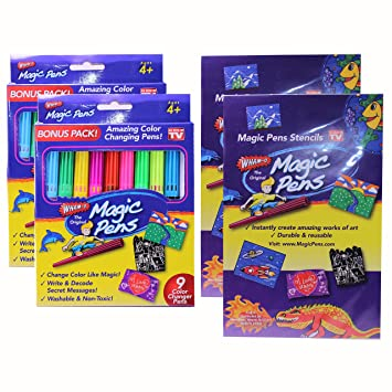 WHAM-O AIRBRUSH MAGIC PENS ART SET w/COLOR CHANGING PENS: AGES 8+: NEW IN  BOX