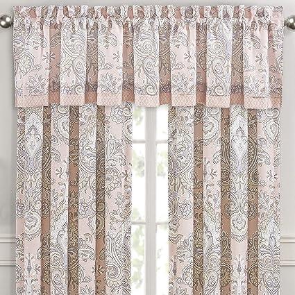 Royal Court Sloane Damask Straight Window Valance, Blush