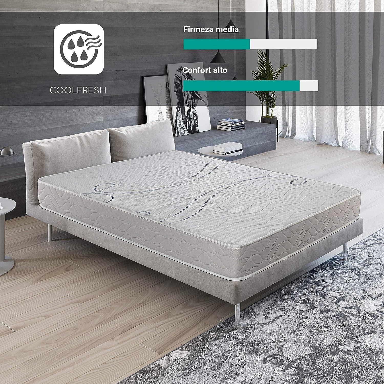 ROYAL SLEEP Colchón viscoelástico 80x190 firmeza Media, adaptabilidad y Calidad Alta, Altura 21m - Colchones Xfresh Premium: Amazon.es: Hogar