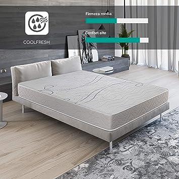 ROYAL SLEEP Colchón viscoelástico 150x190 firmeza Media, adaptabilidad y Calidad Alta, Altura 21m - Colchones Xfresh Premium: Amazon.es: Hogar
