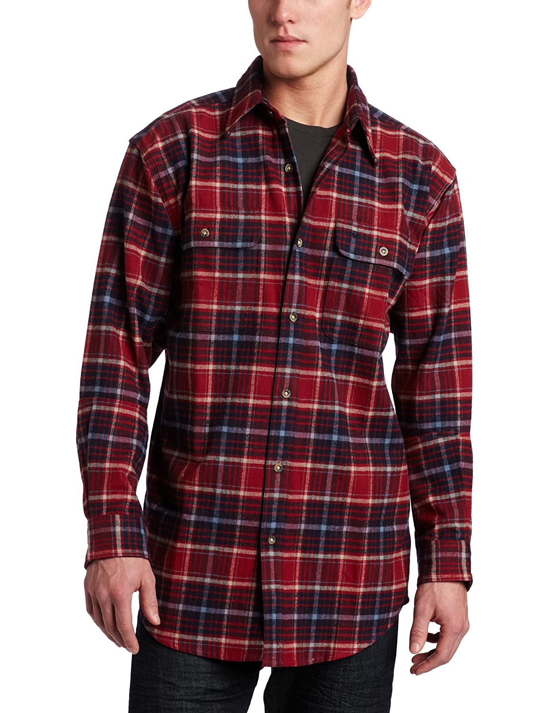 Carhartt Mens Heavyweight Flannel Plaid Shirt