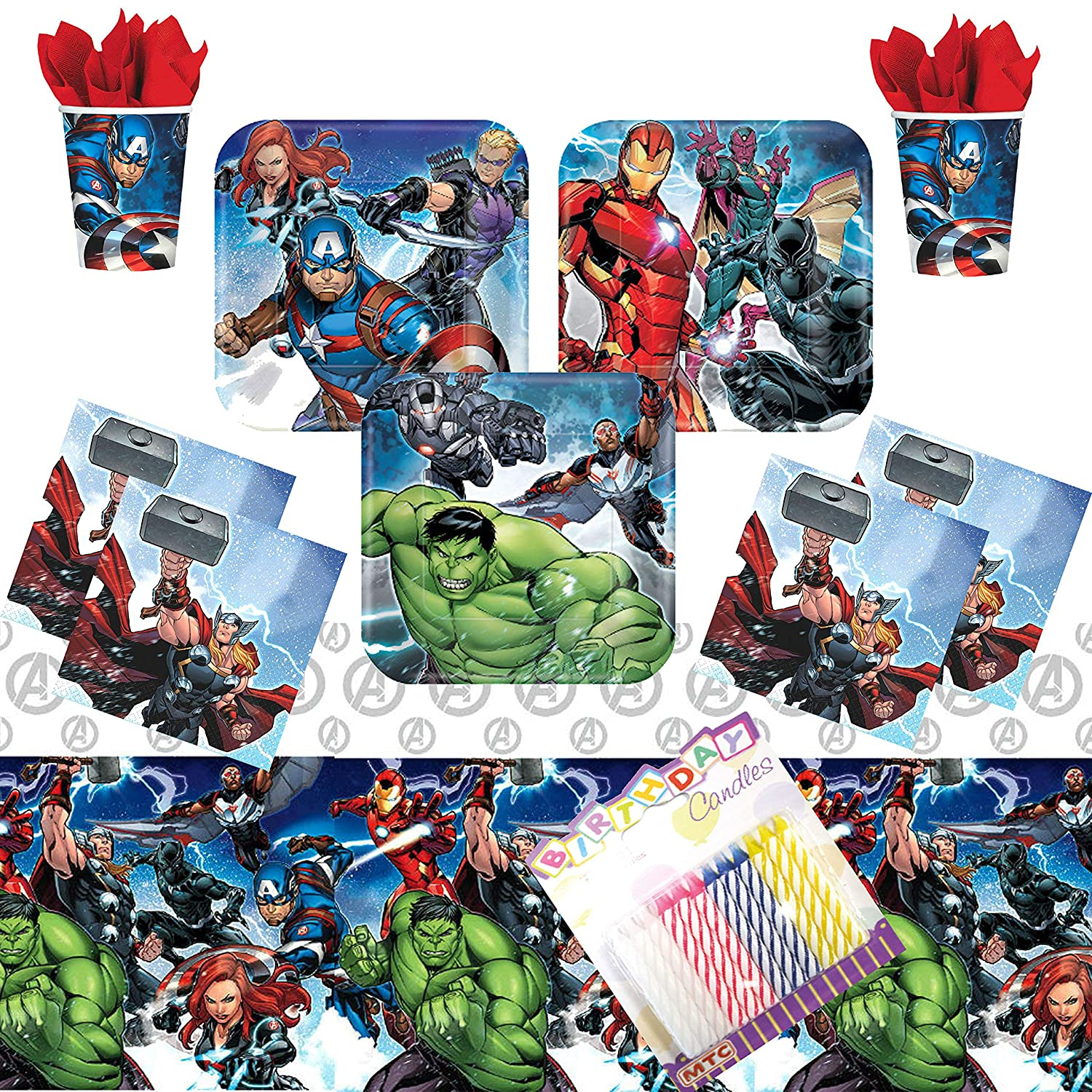 Amazon.com: Marvel Epic Avengers Party Supplies Pack sirve ...