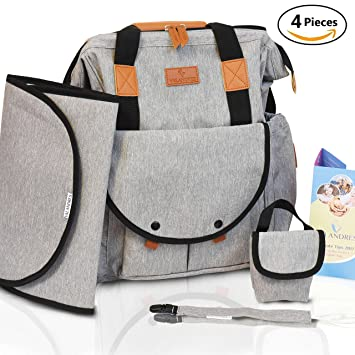 Baby Diaper Bag Backpack for Mom & Dad – Large Opening Design Diaper Bags  Organizer Pouches