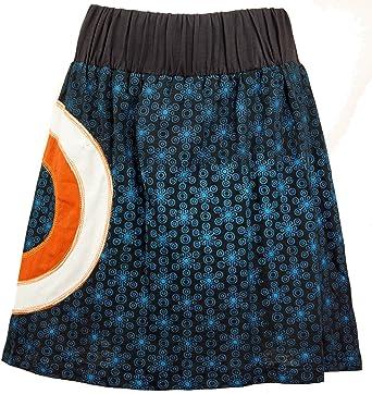 GURU-SHOP, Mini Falda Goa Falda Negra, Negro, Algodón, Tamaño:S ...