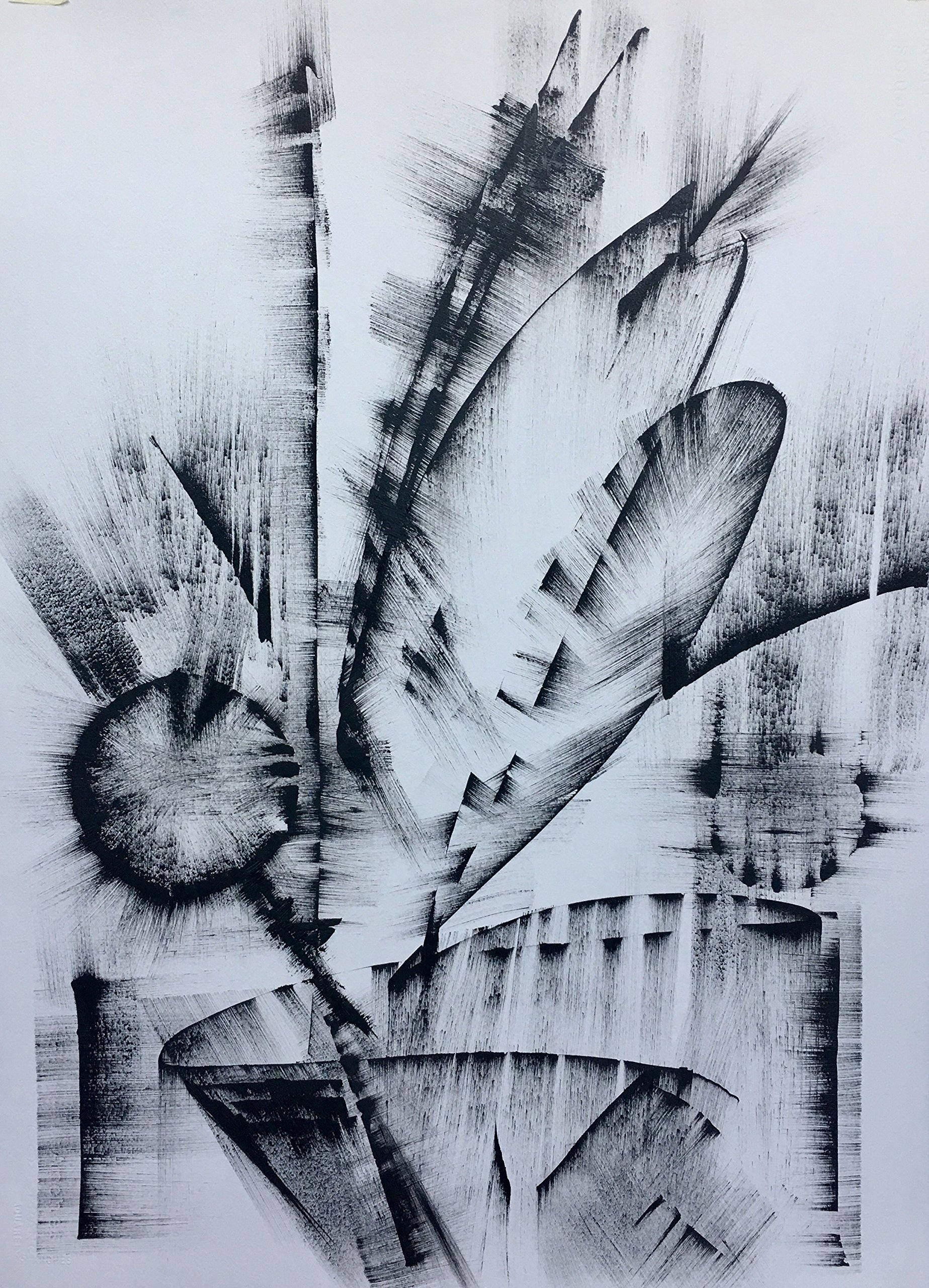 Black and White Abstract Drawing #5 by
