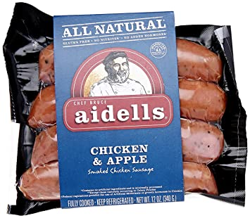 Aidells Smoked Chicken Sausage Chicken AppleFully Cooked