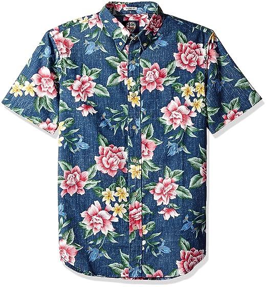 1fe6d12e2e1 Reyn Spooner Men s Weekend Wash Tailored Fit Hawaiian Shirt  Amazon ...