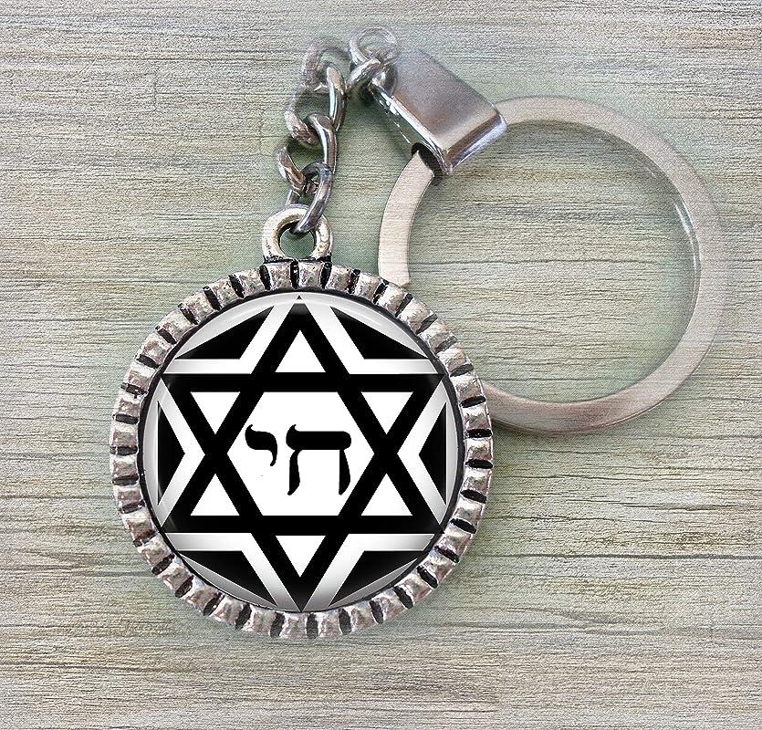 Star of David Keychain Zipper Pull