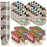 Peter Rabbit Birthday Party Supplies Set Plates Napkins Cups Tableware Kit for 16 by Birthday Galore