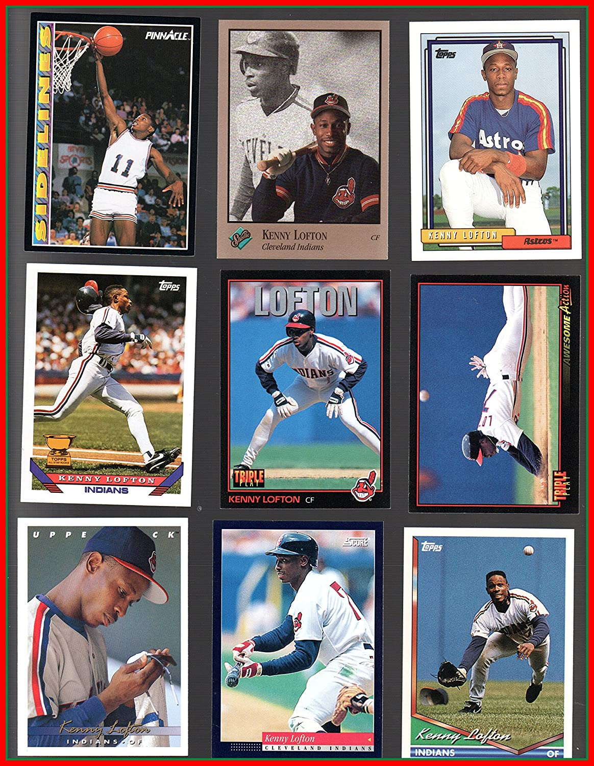 Amazoncom Kenny Lofton 48 Baseball Card Collection Lot No Dupes