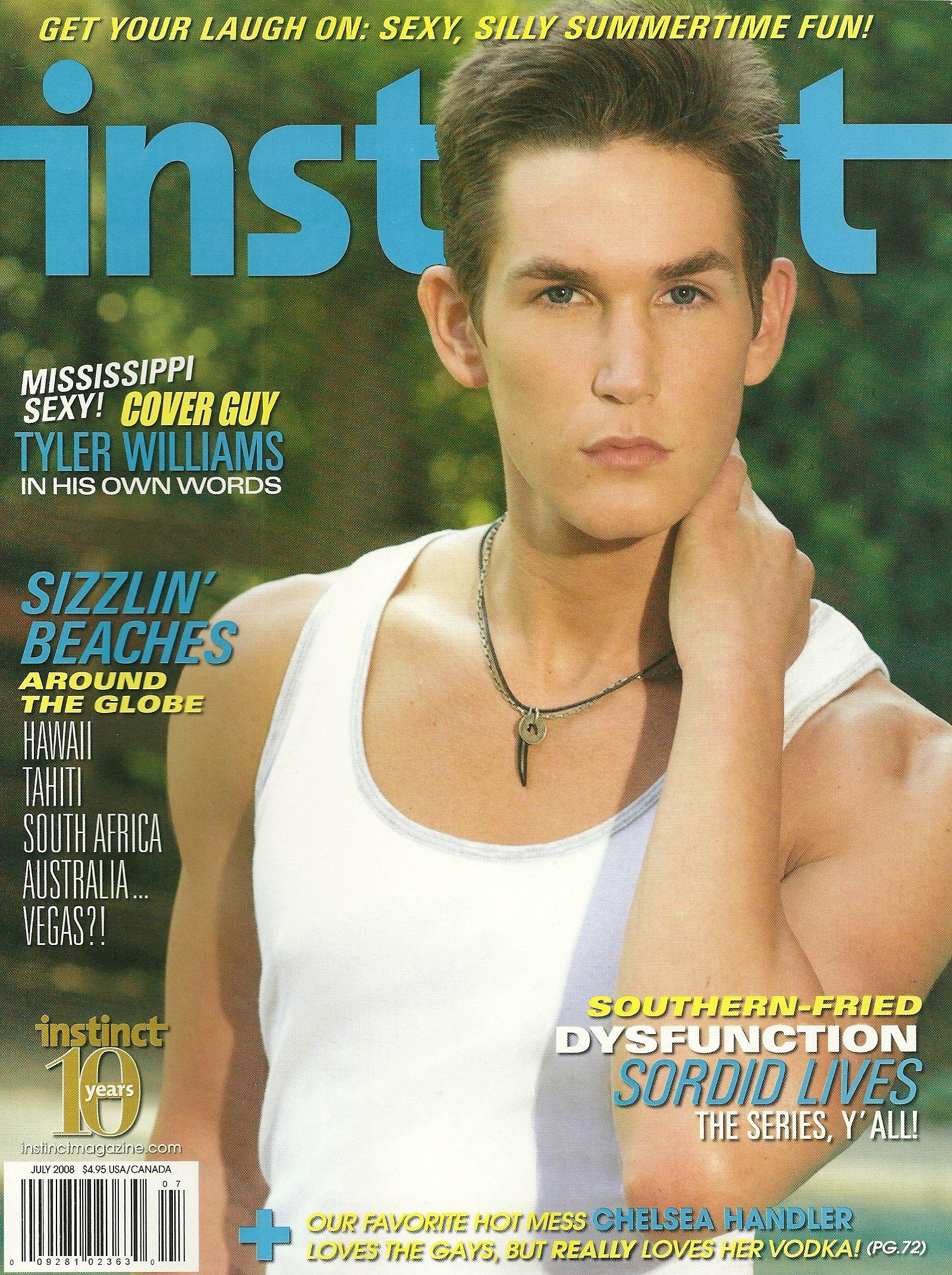 Download Tyler Williams, Gay Beaches of Hawaii, Tahiti, South Africa, Australia, Sordid Lives, Chelsea Handler - July, 2008 Volume 11, Issue 7 Instinct Magazine PDF