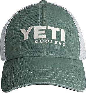 6b73d5e50b9e3 Amazon.com   YETI Black on Black Patch Trucker Hat   Sports   Outdoors