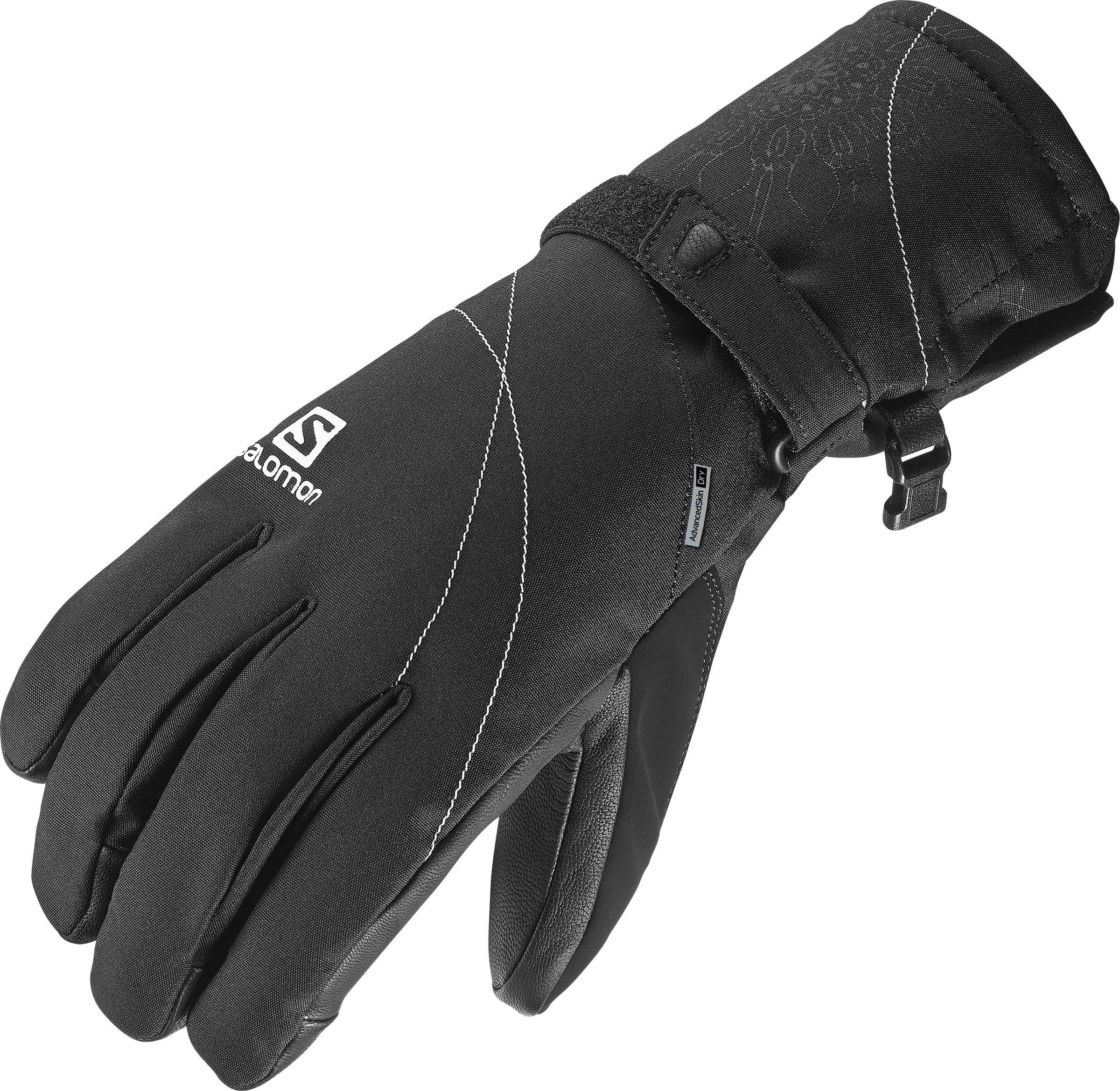 Salomon Women's Propeller Dry Gloves, Black, Medium