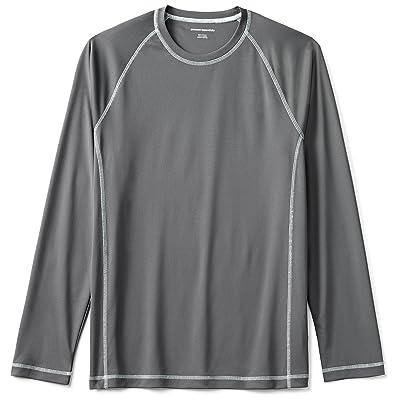 Essentials Men's Long-Sleeve Quick-Dry UPF 50 Swim Tee: Clothing