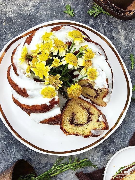 Johnson & Sookie Molde Bundt Cake/Moldes Para Tortas/ Kranz-Kuchen (9,4 x 3,8pulgadas de profundidad): Amazon.es: Hogar