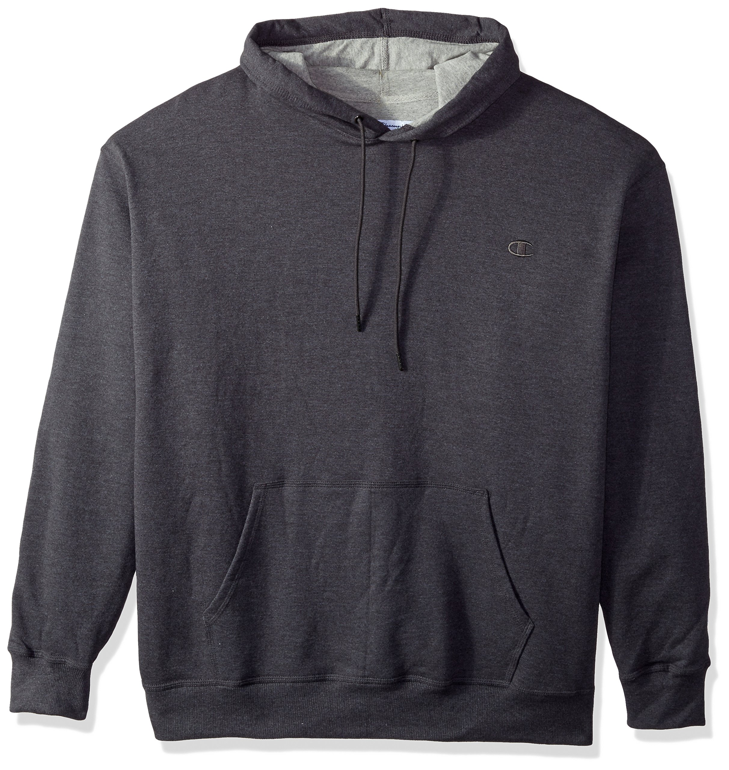 Champion Men's Powerblend Pullover Hoodie, Granite Heather, Small