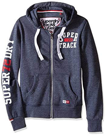 großer Lagerverkauf viel rabatt genießen neuesten Stil Superdry Herren Trackster Zip Hoodie, Herren, Enamel Blue ...