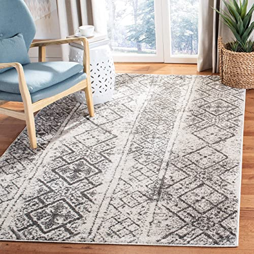 Safavieh Adirondack Collection ADR111H Silver and Black Area 4 x 6 Rug