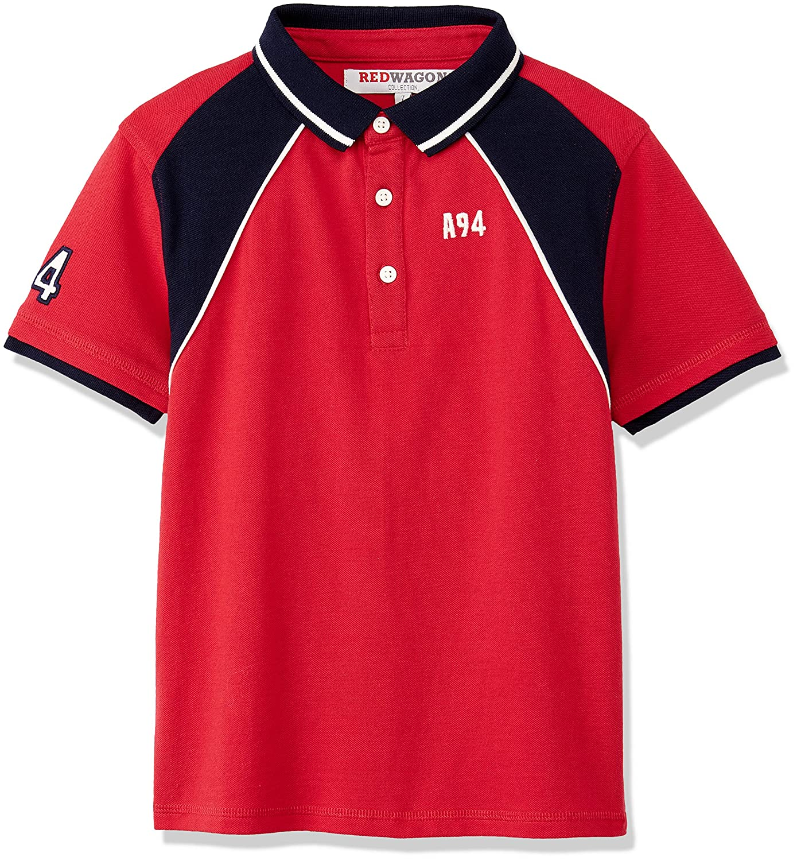 RED WAGON Jungen Raglan Polo Shirt 7376