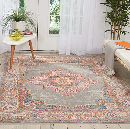Nourison Grey Passion Area Rug, 67