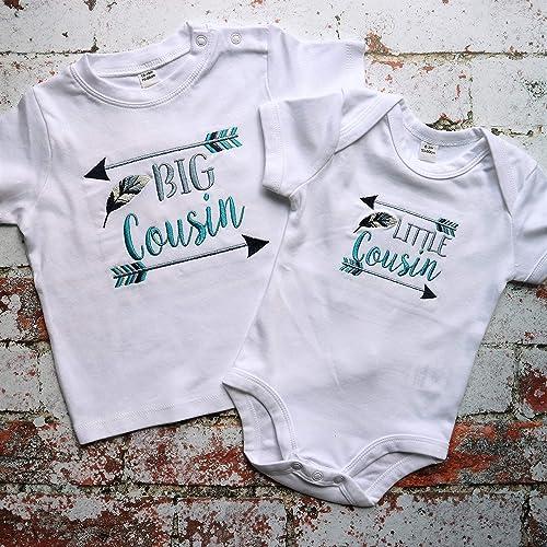 5e0a1baa Big Cousin little Cousin - Big Cousin t-shirt - little Cousin vest - Cousins:  Amazon.co.uk: Handmade