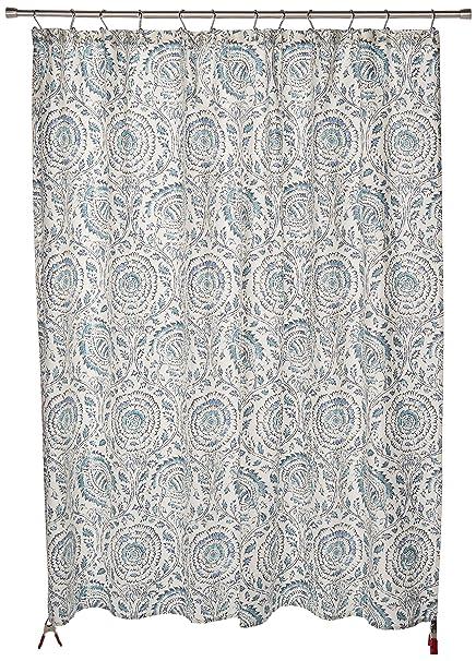 Echo Design Kamala Shower Curtain Blue