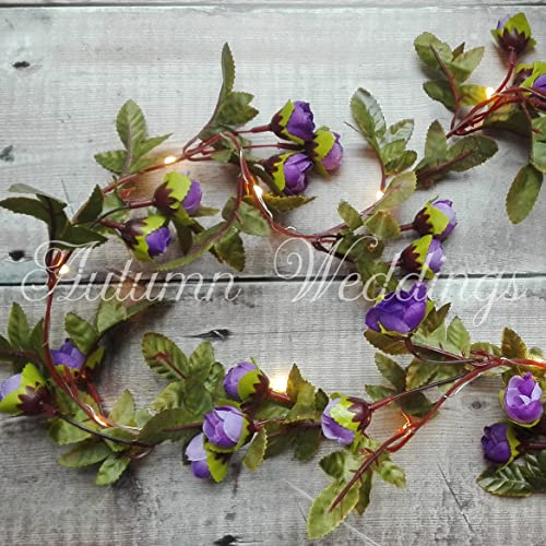 Purple Rose Fairy Lights String Lights Garland With Lights - Flower lights for bedroom
