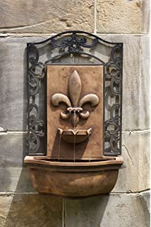 french quarter wall fountain in antique terra cotta