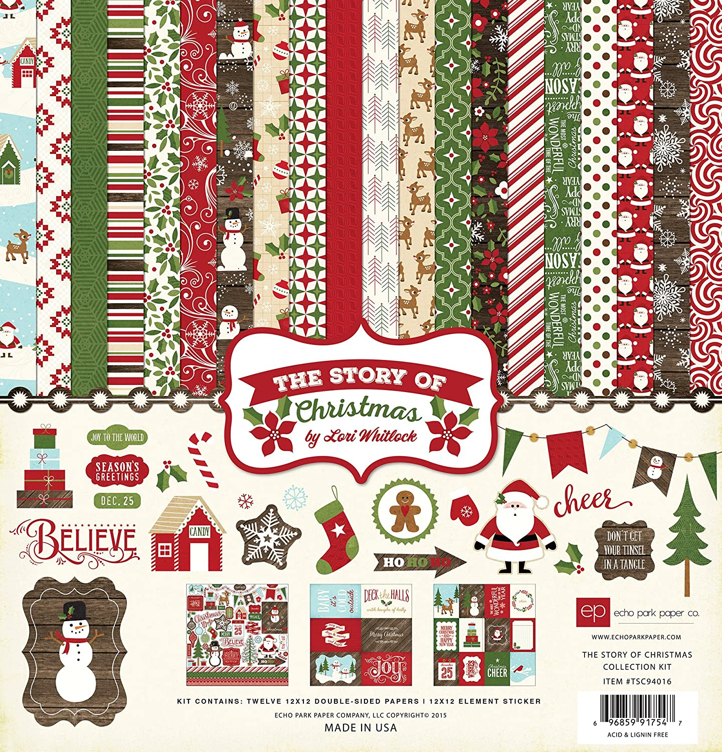 Echo Park Paper Company TSC94016 The Story of Christmas Collection Kit Echo Park Paper Co.