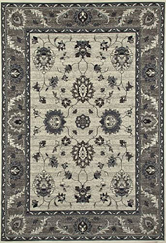 Art Carpet Maison Collection Simply Open Woven Area Rug, 11 x 15 , Beige Gray Mushroom Brown