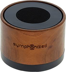 Symphonized NXT Extremely Powerful Bluetooth Portable Speaker. One Piece Solid Hand Carved Walnut Wood. Compatible with Apple, Android Devices, Tablets and More