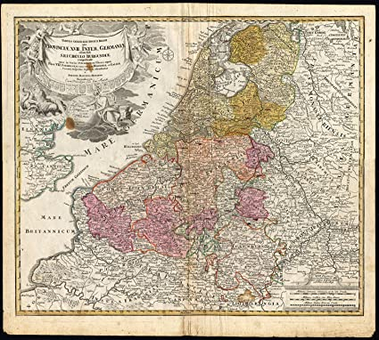 Map Of France Belgium Luxembourg.Amazon Com Antique Map The Netherlands Holland Belgium